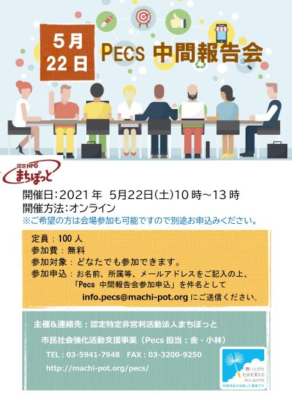 市民社会強化活動支援事業(Pecs)中間報告会を開催します!